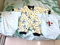 Used 3 baby boy rompers clothes  in Dubai, UAE
