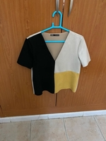 Used Black and beige top from Zara in Dubai, UAE