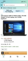 Used Laptop Dell i7 8th gen - ram 8gb - 1TB in Dubai, UAE