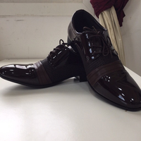 Men's brown patent shoes EU44 NEW