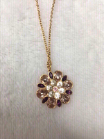 Used Real Swarovski flower necklace in Dubai, UAE