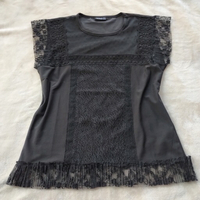 Used Beautiful black top with lace in Dubai, UAE