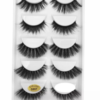 Used NEW Soft 5 pairs false 3D mink eyelashes in Dubai, UAE