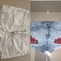 Used Shorts 🌺2 for 60🌺 size xs in Dubai, UAE