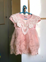 Used New baby pink lace frock with pant👶💕 in Dubai, UAE