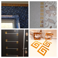 Used Decor wall stickers 30 pcs gold ca.10 cm in Dubai, UAE