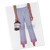 Used Zara blue/white Gingham pants Medium 💙 in Dubai, UAE
