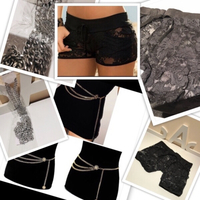 Used Lace shorts size M & chain belt 1 pc in Dubai, UAE