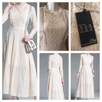 IVORY LACE DRESS UK 8