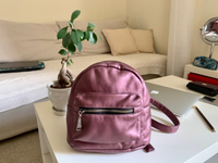 Used Metallic Pink Backpack  in Dubai, UAE