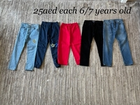 Used Trousers bundle for 6/7 years old boy  in Dubai, UAE