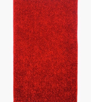 """Used NEW Soft Fluffy Red Rug 25x50"""" approx. in Dubai, UAE"""