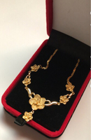 Used Gold Plated Jewelry Flowers Set in Dubai, UAE