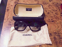 Used Chanel Black/Grey  CC LOGO Sunglasses❤️ in Dubai, UAE