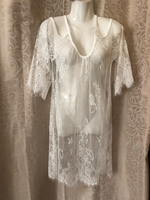 Used Beach lace top white size L in Dubai, UAE