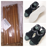 Used Sandals size 39 and bamboo crochet hooks in Dubai, UAE