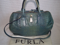 Used Authentic Furla croc embossed -vintage  in Dubai, UAE