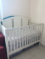 Used Pottery Barn bed and changing table set in Dubai, UAE