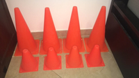 Used 8 football cones / traffic cones in Dubai, UAE