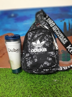 Used Adidas Chest Bag, Black/Gray in Dubai, UAE