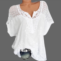 summer embroidered top size L