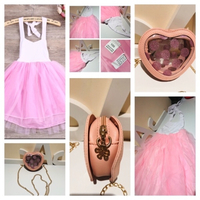Used Princess tutu dress size 3-4Y+bag in Dubai, UAE