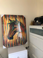 Used BEAUTIFUL Horse Oil Painting 80*100 in Dubai, UAE