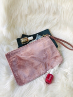 Used Fashion Rose Pink Suede Wristlet Bag in Dubai, UAE