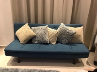 Used Sofa Bed with Cushions - Almost New in Dubai, UAE