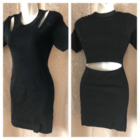black short dress S