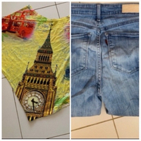 Used Levi's jeans and top in Dubai, UAE
