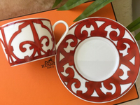 Used Hermes coffee cups. 100% authentic  in Dubai, UAE