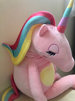 Used NEW Pink Rainbow Unicorn Plush Toy 60cm in Dubai, UAE
