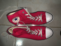 Used Pink layered converse  in Dubai, UAE