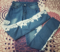 Used Women Patchwork Lace Jeans in Dubai, UAE