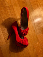 Used Steve Madden Bow-Front Red Platforms in Dubai, UAE