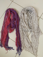 Used 2 long cotton scarves 🧣  in Dubai, UAE