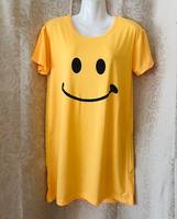 Yellow smiley face t-shirt XL