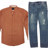 Used Brand new Shirt and Zaraman Jeans in Dubai, UAE