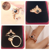 "Used Crown ring Roségold ""I Love you"" .... in Dubai, UAE"