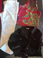 """Used 28""""cotton+jeans top +jacket all in Dubai, UAE"""