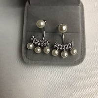 Used 925 silver queen pearl  design earrings in Dubai, UAE