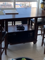 Used 6 seater dining table with storage  in Dubai, UAE