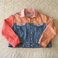 Used ASOS 90s Colourblock denim jacket (16UK) in Dubai, UAE