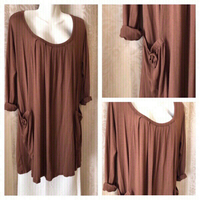 Used Wide brown top/dress size XL in Dubai, UAE