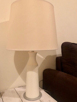Used Side table white lamp  in Dubai, UAE