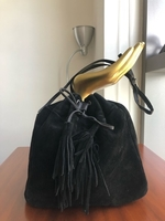 Used Fashion Suede Velvet Bucket Bag in Dubai, UAE
