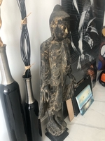 Used Buddha tall wooden statue  in Dubai, UAE
