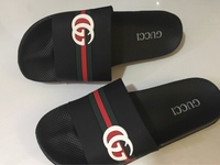 Used Gucci slippers black  size 42 in Dubai, UAE