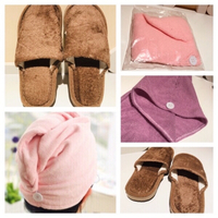 Used 2 Hair towel+1 pair house slippers 41-42 in Dubai, UAE